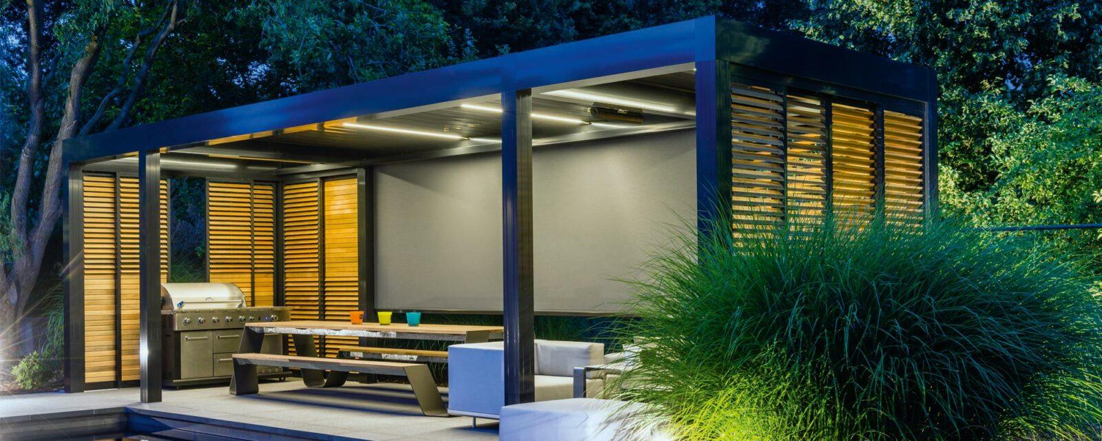 pergola brise soleil slider 3 tradidemeures. Black Bedroom Furniture Sets. Home Design Ideas