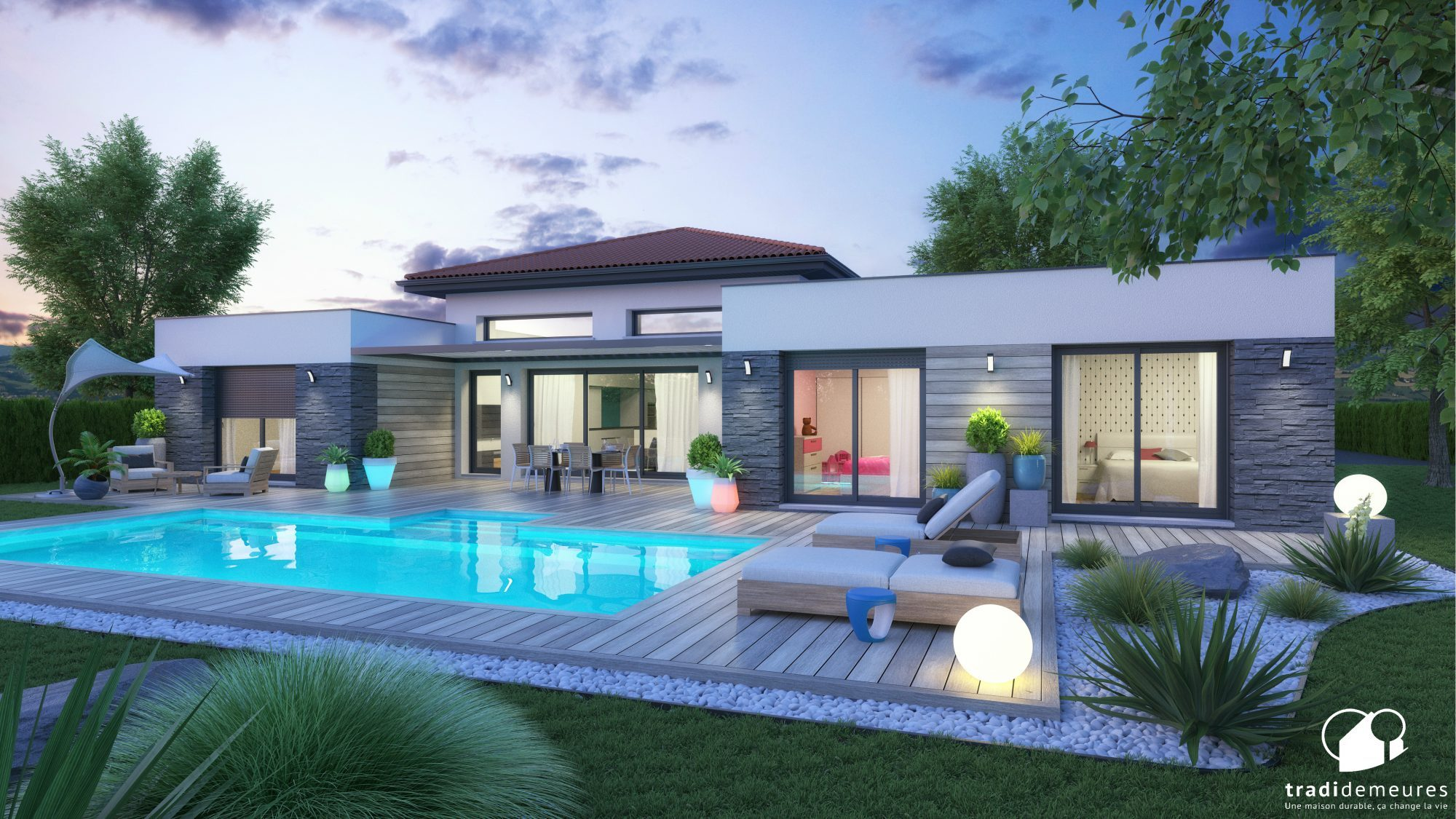 La création de la semaine : une maison contemporaine et inspirante - Constructeur de maisons en ...