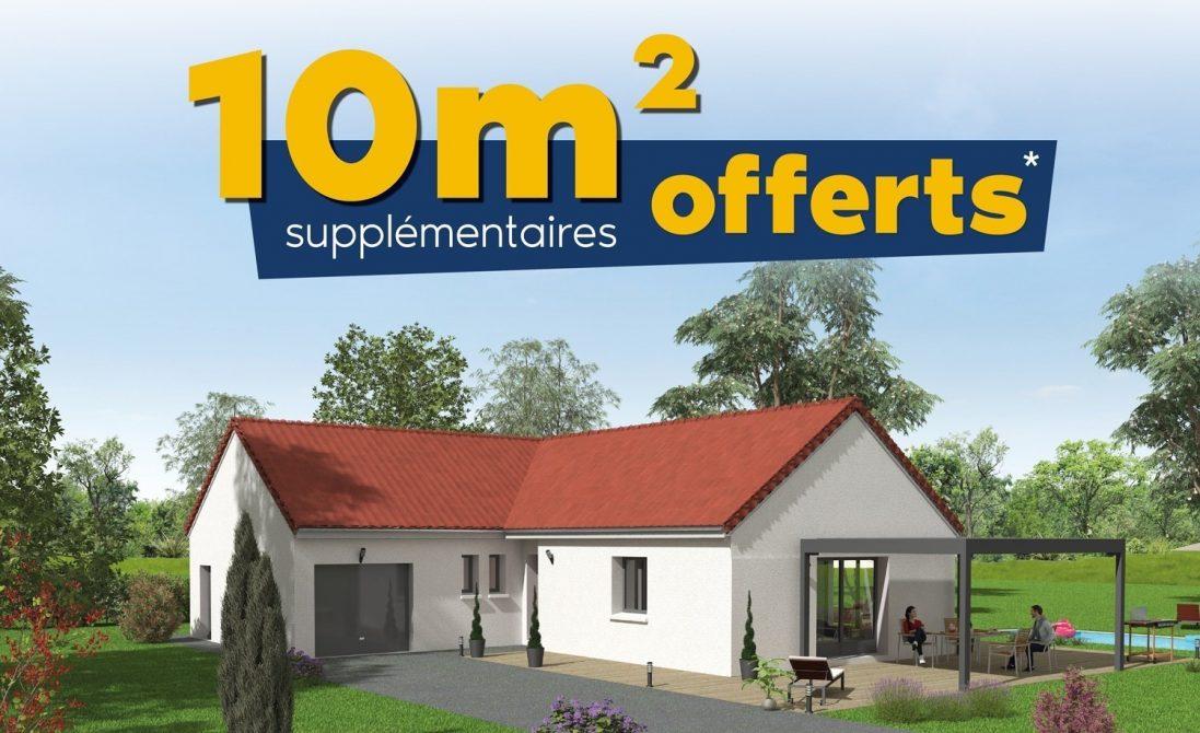 10 m² supplémentaires offerts construction maison